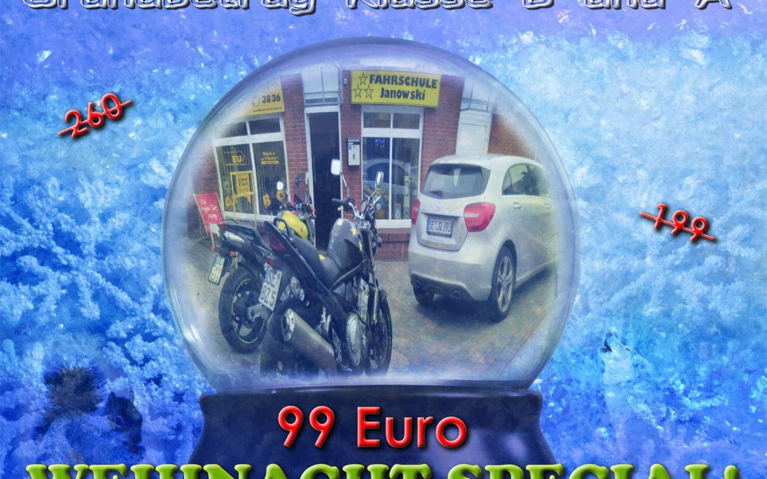 Großes Weihnacht-Special! Grundbetrag nur 99 Euro! Klasse A&B